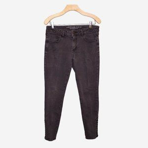 American Eagle Lace Up Ankle Skinny Jeans Sz 12